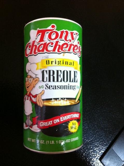 Tony Chachere's Creole Seasoning is my favorite go-to seasoning.