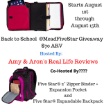 Blogger Opp – Back To School MeadFiveStar Giveaway