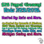 $25 Paypal Giveaway Ends 7/23 – ENDED
