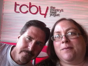 Mike and I at TCBY