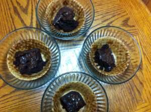 brownie in bowl
