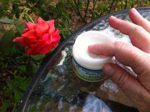 touching the arnica cream