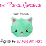 $40 Paypal #Giveaway Ends Sept. 25 ENDED