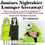 Juniors Nightshirt/Lounger #Giveaway Ends Nov. 11ENDED