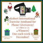 Kobert International Exercise Armband for Phone #Giveaway Ends Dec. 25 ENDED