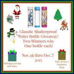 Glasstic Shatterproof Water Bottle #Giveaway #GTG2015 Ends Dec. 7 ENDED