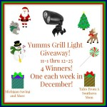 Yumms! Grill Light #Giveaway Ends Dec. 25 ENDED