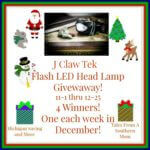 J Claw Tek Flash LED Head Lamp #Giveaway Ends Dec. 25