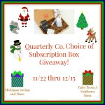 Quarterly Box #Giveaway #GTG2015 Ends Dec. 15 ENDED