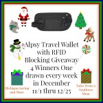 Alpsy Travel Wallet with RFID Blocking #Giveaway Ends Dec. 25