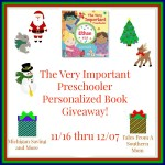 The Very Important Preschooler Personalized Book #Giveaway #GTG2015 Ends Dec. 7 ENDED
