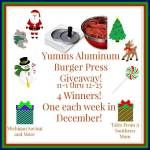 Yumms! Aluminum Burger Press #Giveaway Ends Dec. 25 ENDED