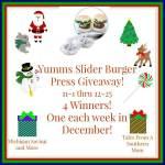 Yumms Slider Hamburger Press #Giveaway #GTG2015 Ends Dec. 25 ENDED