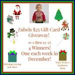 Zubels $25 Gift Card #Giveaway Ends Dec. 25 ENDED