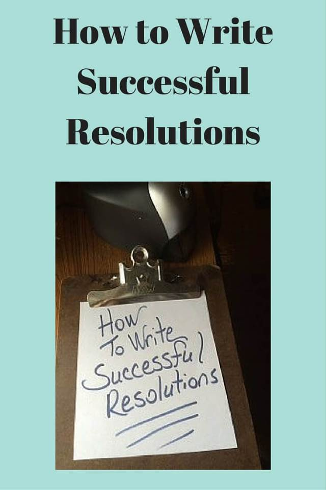 How to Write Successful Resolutions