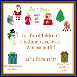 LeTop Childrens Clothing Outfit #Giveaway Ends Dec. 25 ENDED
