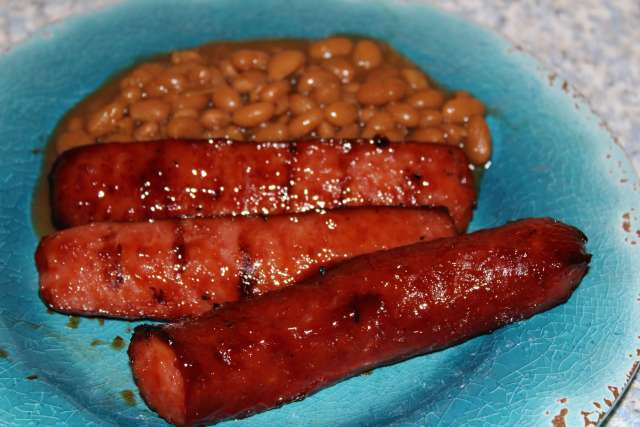 You'll need wet napkins with your dinner tonight. Sweet & Messy BBQ sausage is worth it.