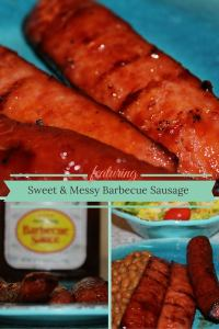 I can't wait to try this sweet & messy barbecue sausage!