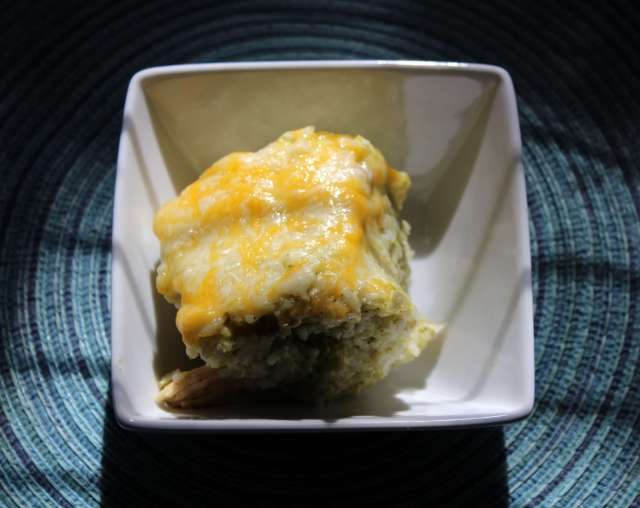 chicken broccoli rice casserole squared image