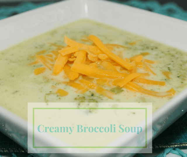 Doesn't this Creamy Broccoli Soup just look amazing?