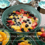 Easy One Bowl Fruit Salad #Recipe