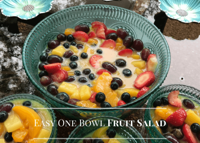 Have you tried this super easy one bowl Fruit Salad yet?