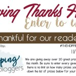 Giving Thanks #Giveaway Hop Ends Nov. 29 *ENDED*