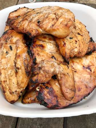 Trisha's Cola Marinade for Chicken Breasts on the Grill makes the juiciest and most flavorful chicken breasts.