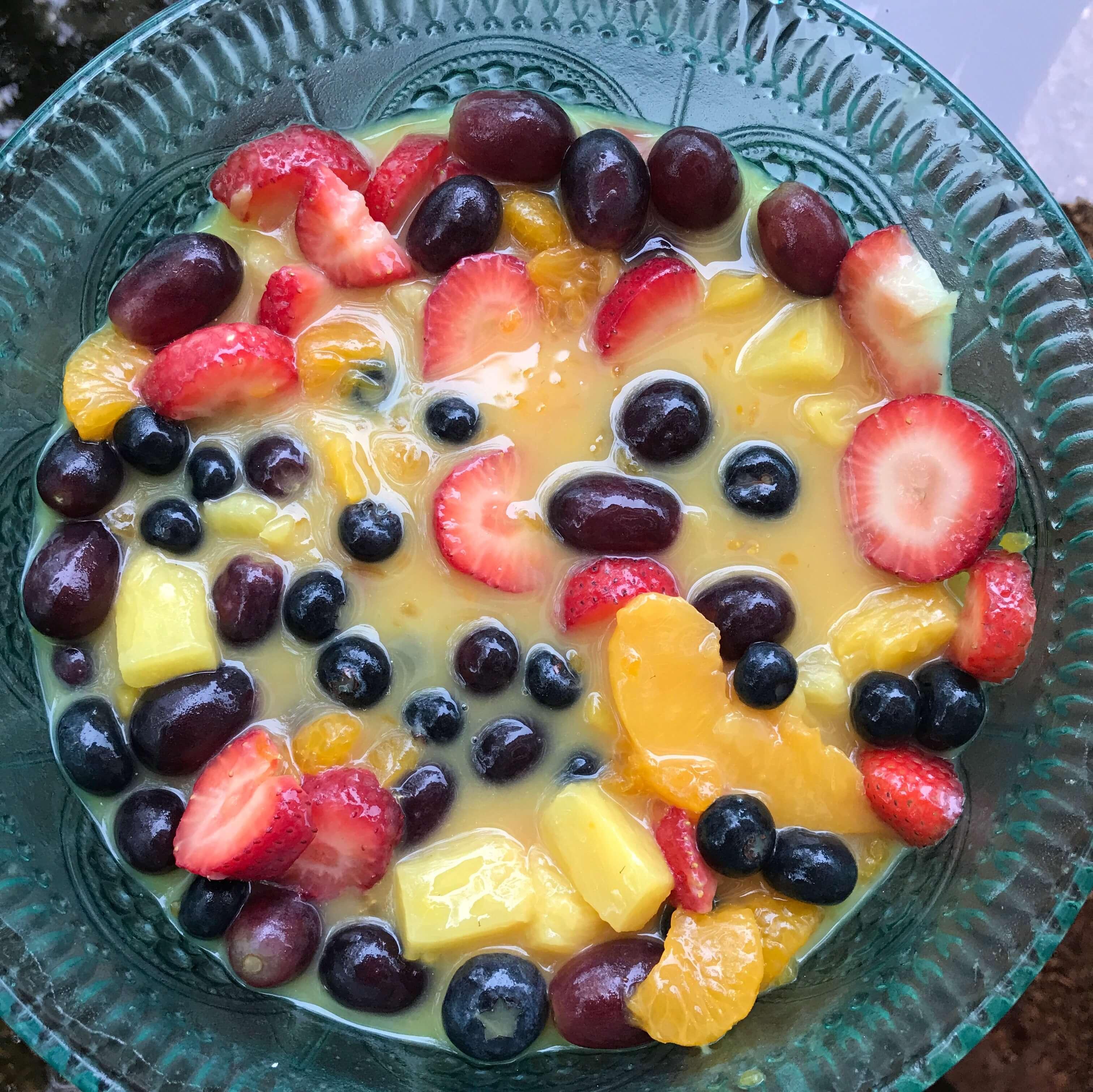 Easy One Bowl Fruit Salad #Recipe