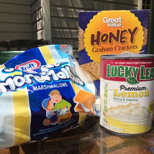 Ingredients for Lemon S'mores