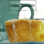 Lemon Brownies #Recipe from Cake Mix