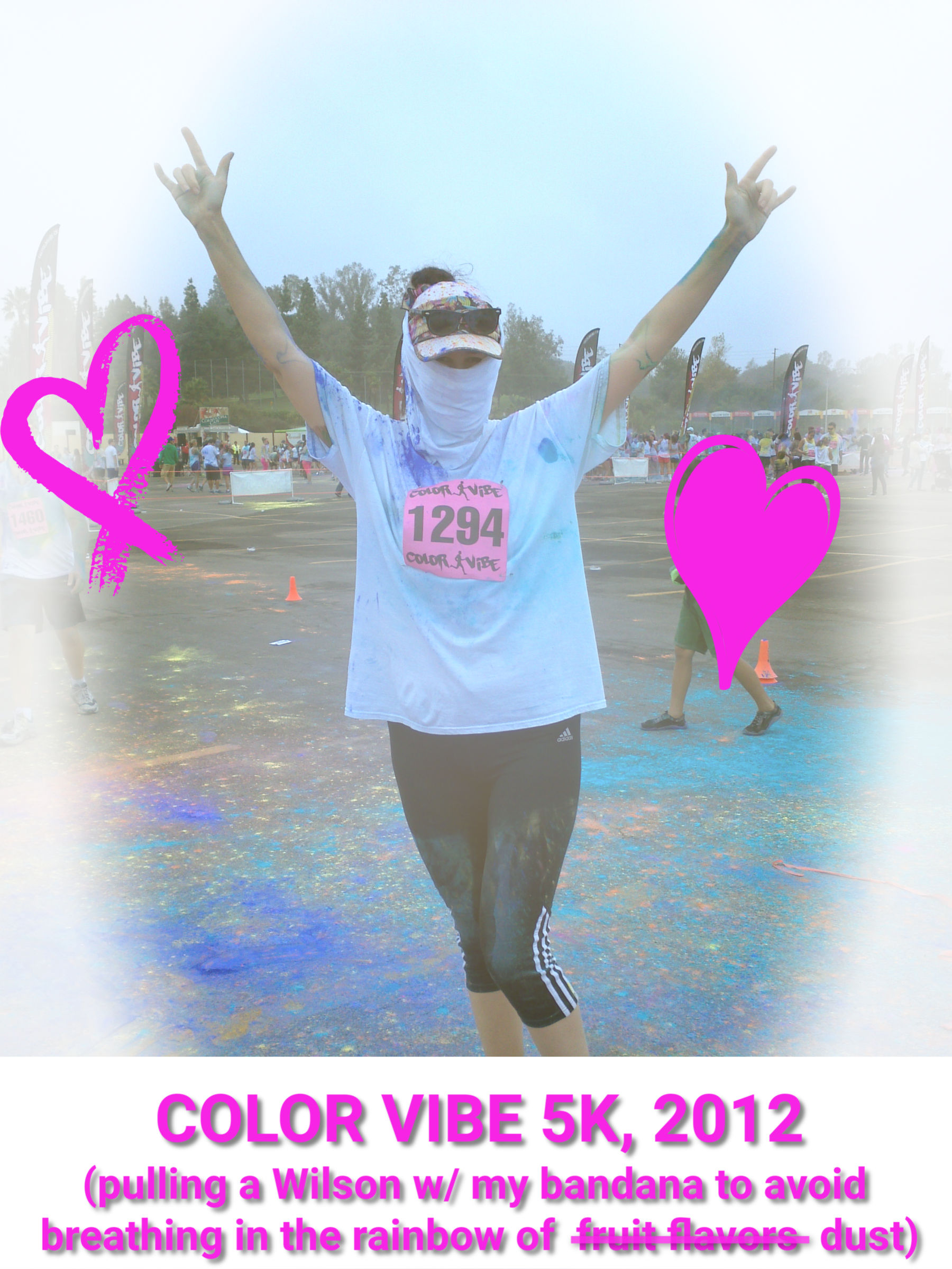 trish at color vibe run