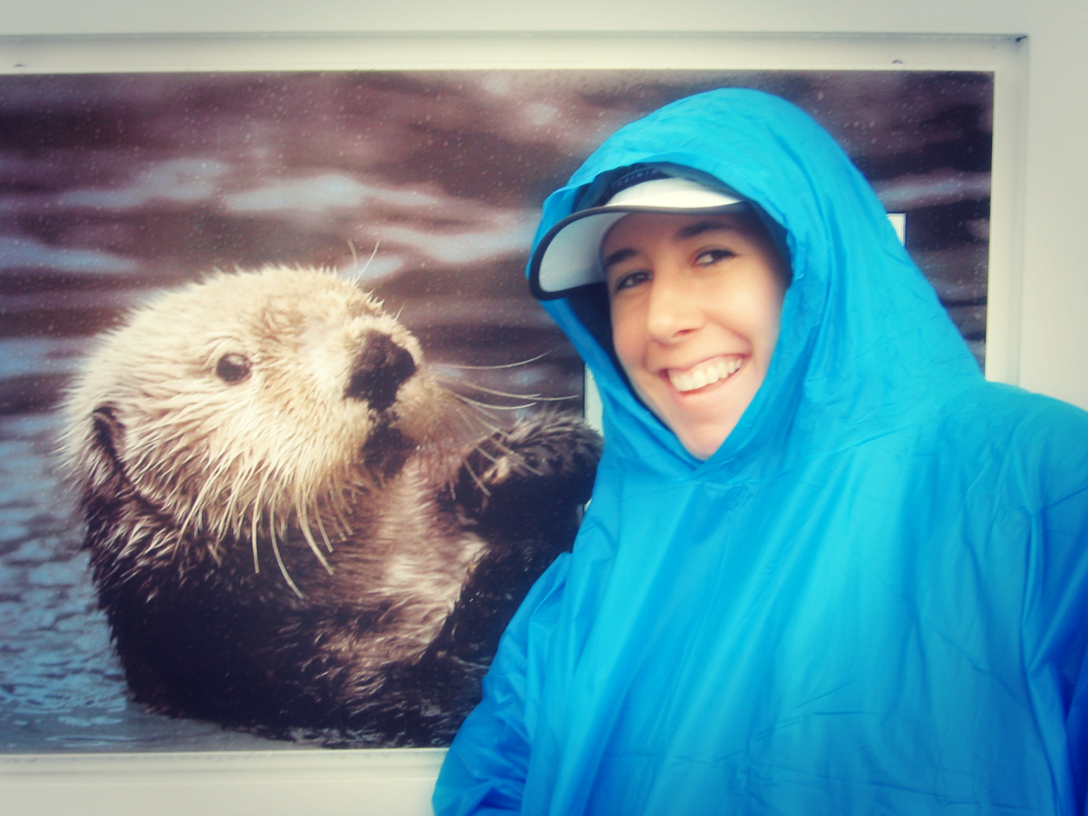 trish with otter pic