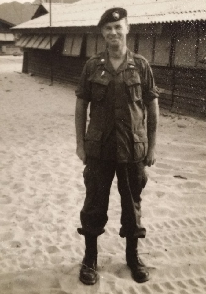sobriety and relapse pic: black and white photo of a man in a military uniform