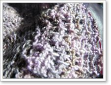 Closeup of the shawl in progress