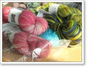 Lynne went a little nuts at the Homespun Yarn Party, but knitting and crochet friends truly understand!