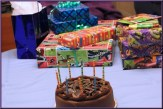 Chocolate cake and gifts