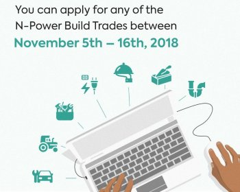 Npower Build Recruitment Now Open | Npower.gov.ng