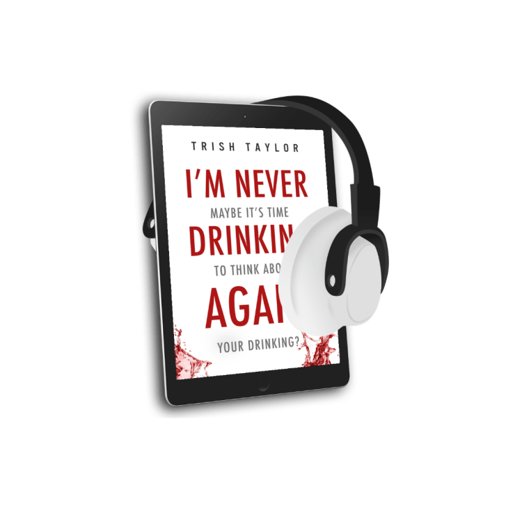 3d audio image of book cover I'm Never Drinking again