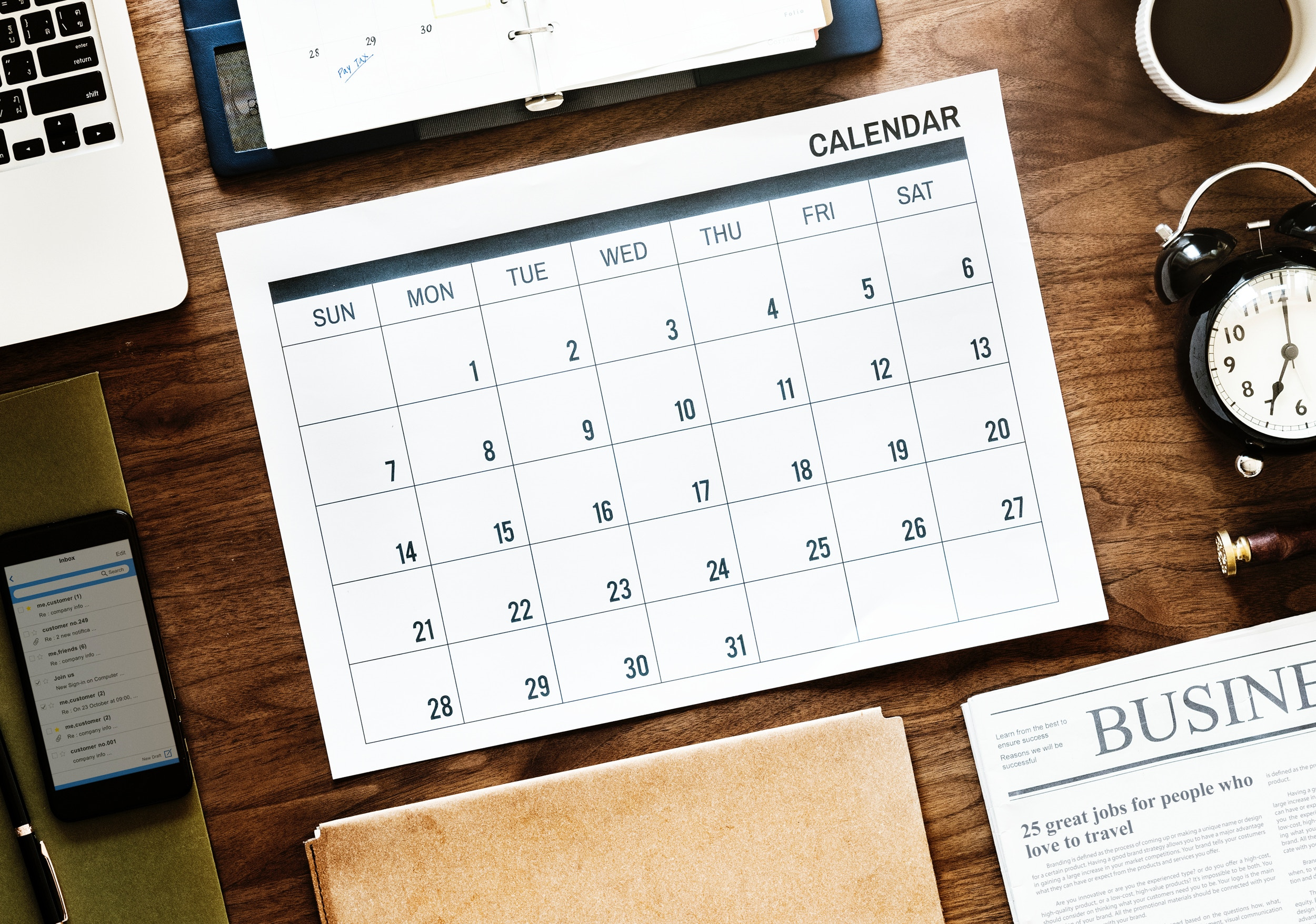 Planning Your Content with a Content Calendar (Free Downloadable