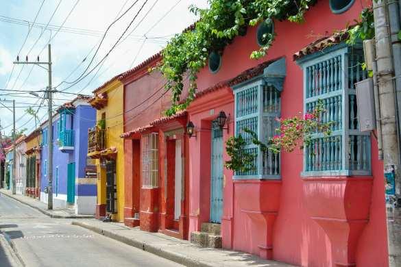 Les rues colorées de Carthagène en Colombie