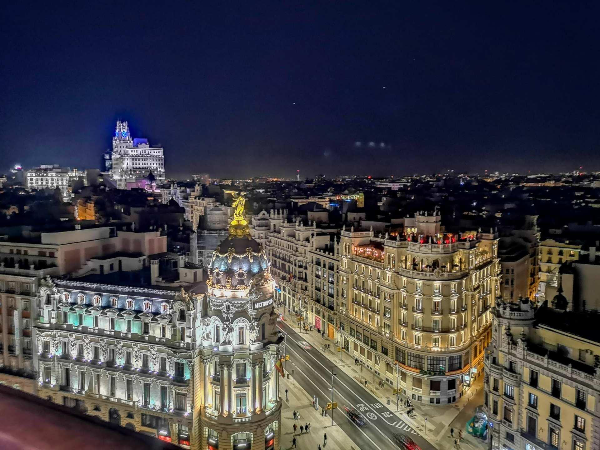 Le vue depuis le Circulo de Bellas Artes à Madrid