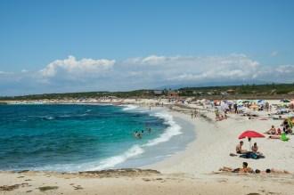 La plage d'Is Arutas en Sardaigne