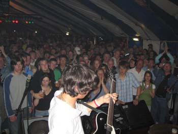 Davy Knowles fills Bushys Tent-spot yourself in the crowd?