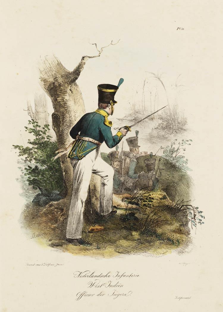 Nederlandsche Infanterie West Indiën Officier der Jagers