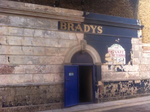 Former Bradys signage