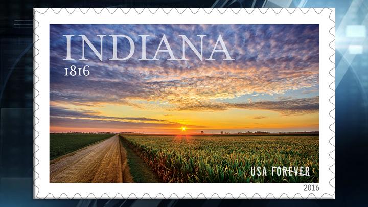 USPS Indiana Bicentennial Stamp