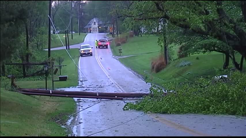 Storm Damage on Alvord and Mesker Park Drive