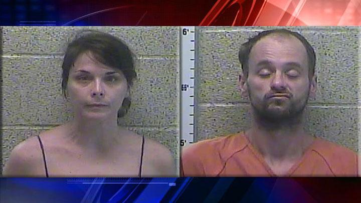 Ali Langley and Chad Rauch Arrest Mug Drug