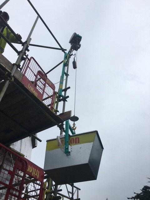 Elephant Hoist Hire Close up - Triton Scaffolding Ltd